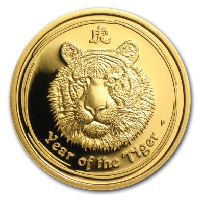 25 dollars Lunar II Tiger 2010 1/4 oz Proof