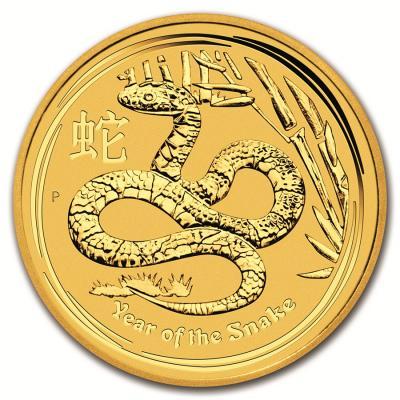 25 dollars Lunar II Snake 2013 1/4 oz