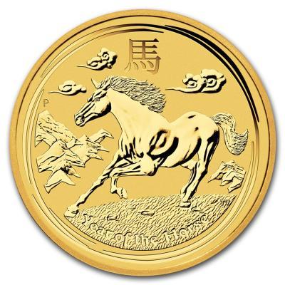 25 dollars Lunar II Horse 2014 1/4 oz