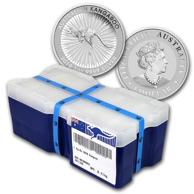 1 oz Silver Kangaroo. Sealed box 250pcs