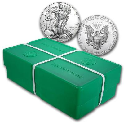 1 oz Silver American Eagle. Sealed box 500pcs