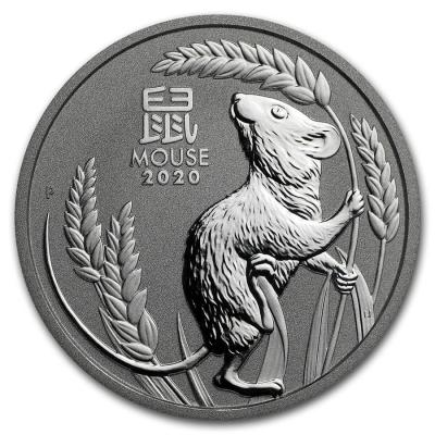 100 dollars Lunar III Mouse Platinum 1 oz