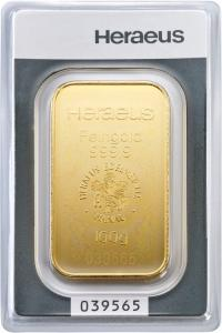 100 gram Gold Bar - Heraeus Germany (In Assay)
