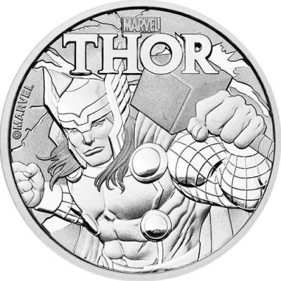 1 dollar Tuvalu Thor Ag 1 oz.
