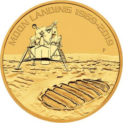 100 dollars Australia Moon Landing Au 1 oz