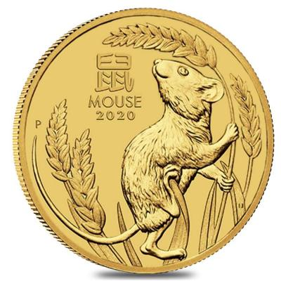 5 dollars Lunar III Mouse 2020 1/20 oz