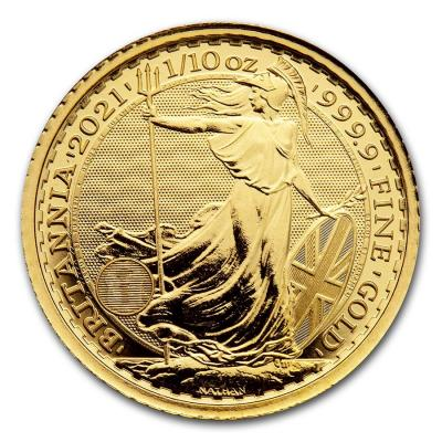 10 pounds Britannia 1/10 oz