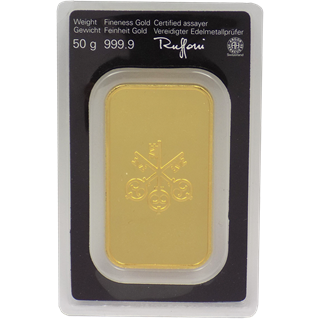 50 Gram UBS Gold Bar (In Assay)