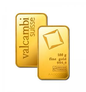 100 gram Gold Bar - Valcambi (In Assay)