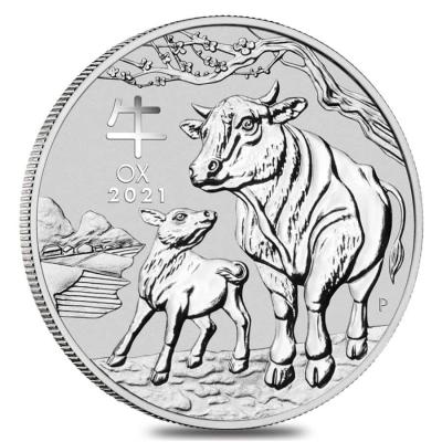 1 dollar Australia Lunr year of the Ox Ag 1 oz