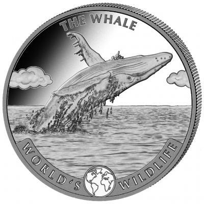 20 francs Congo Whale Ag 1 oz