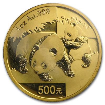 500 yuan China Panda 2008y. 1oz