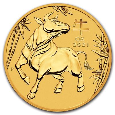 25 dollars Australia Lunar year of the Ox Au 1/4 oz