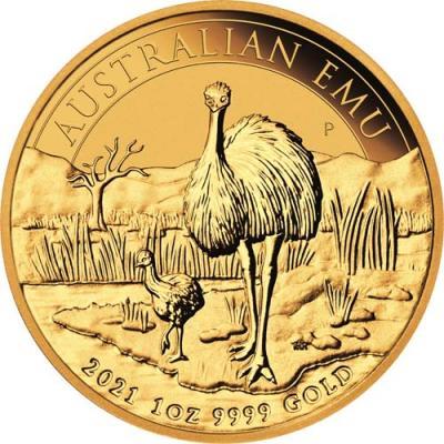 100 dollars Australian Emu. Au 1 oz