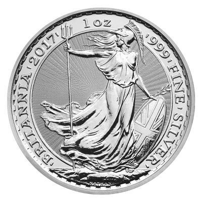 2 pounds Silver Britannia 1 oz