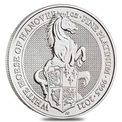 100 pounds White Horse 1oz Platinum