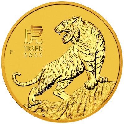 25 dollars Australia Lunar year of the Tiger Au 1/4 oz