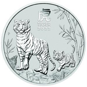 1 dollar Australia Lunr year of the Tiger Ag 1 oz