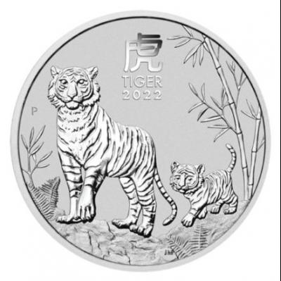 50 cents Australia Lunr year of the Tiger Ag 1/2 oz